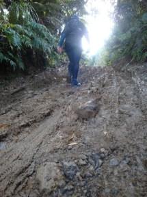 ...and muddy uphills!