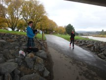 Nice to see the rain didn't deter our usual bagpipe player at the Manawatu Striders annual event. It's always great heading the sound of the bagpipes from a distance as you run along the river.