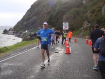 Gerry rounding the halfway point.