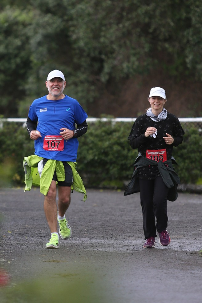 In sight of the finish - a good reason to smile! [Pic courtesy of NP Joggers & Walkers]