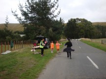First water point with very helpful little volunteers.