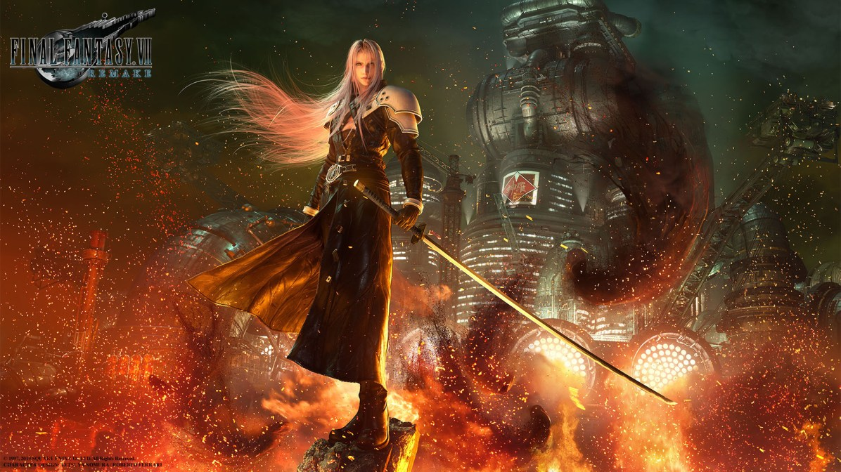 FINAL FANTASY VII REMAKE SEPHIROTH WALLPAPER