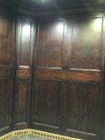 Can you believe they still have wood pannelled lifts?