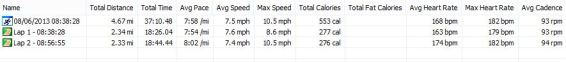 Seaton Super Run Statistics 08-06-2013