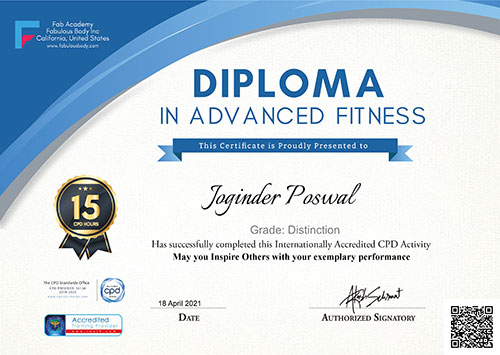 Diploma in Advance Fitness