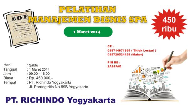 pelatihan manajemen bisnis spa Maret 2014