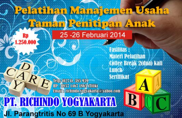 pelatihan manajemen usaha taman penitipan anak Februari 2014
