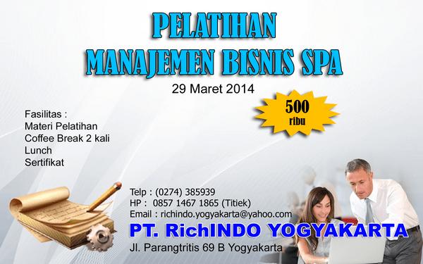 pelatihan manajemen bisnis spa Maret 14