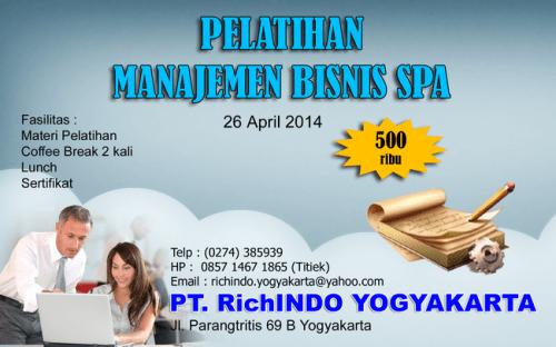 pelatihan manajemen bisnis spa April 2014