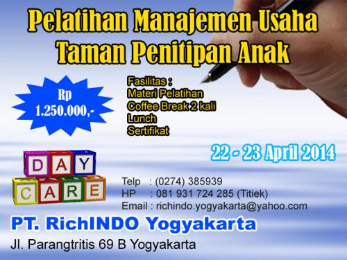 pelatihan manajemen usaha taman penitipan anak April 2014