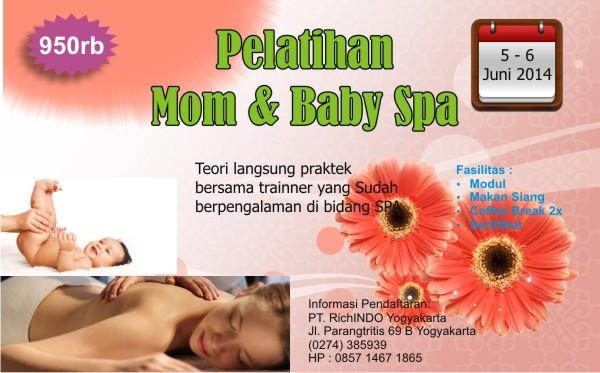 pelatihan mom and baby spa Juni 2014