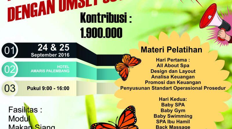 Pelatihan Mom and Baby Spa Palembang