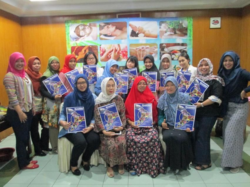 Peserta Pelatihan Manajemen Bisnis Spa Januari 2017 dari berbagai kota di Indonesia