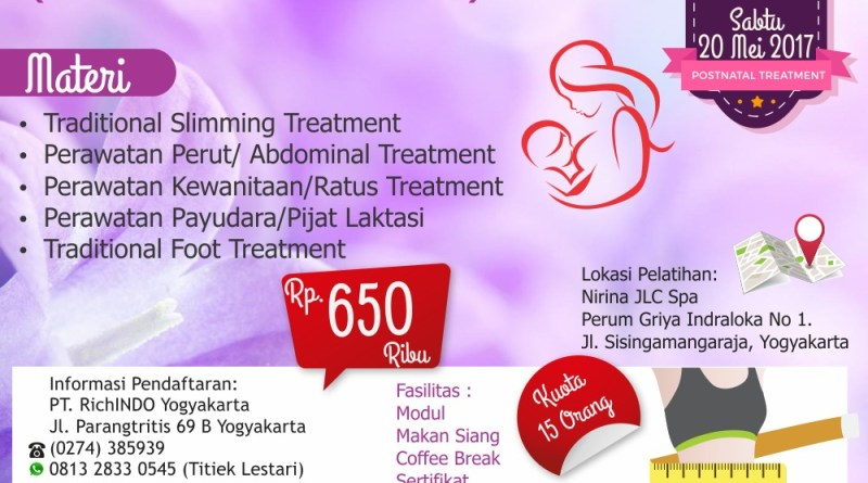 Post Natal Treatment Mei 2017
