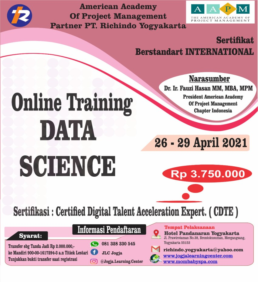 ONLINE TRAINING DATA SCIENCE