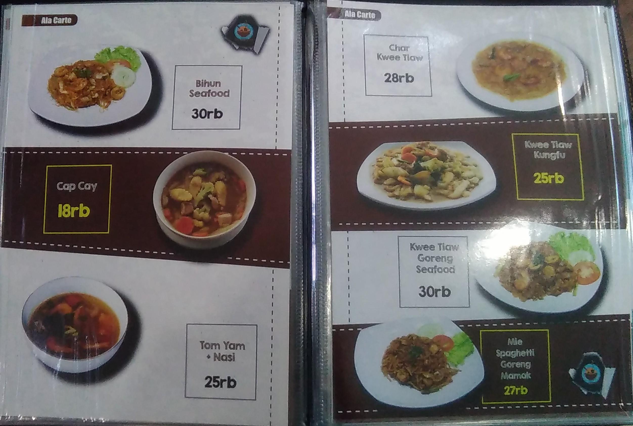 daftar menu GH Corner Babarsari Jogja