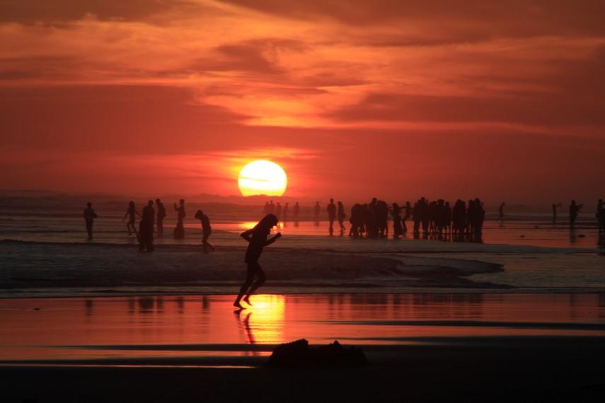 Amazing Parangtritis Beach Sunset