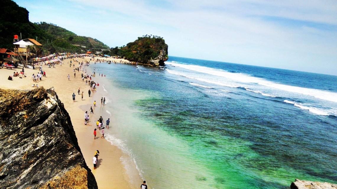 Indrayanti Beach in Indonesia