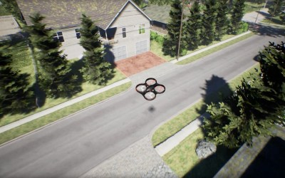 AirSim Simulator Drone Produksi Microsoft