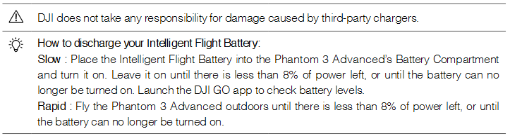 How to discharge your Intelligent Flight Battery