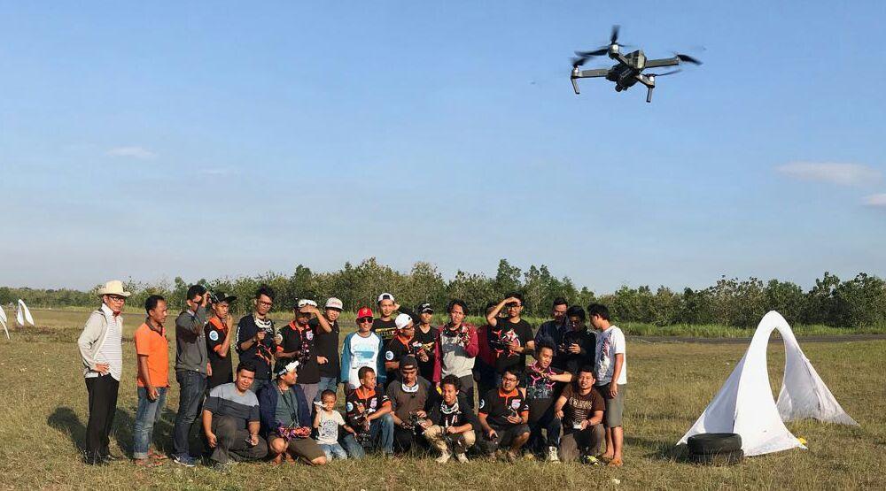 Eksibisi Porda Drone Race Jogja