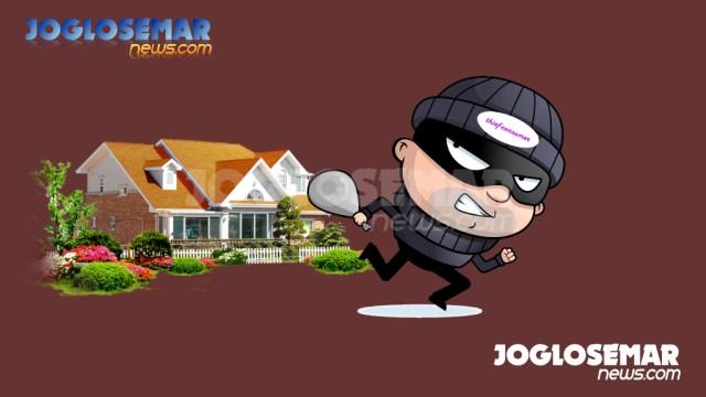 ilustrasijs perampokan pencurian
