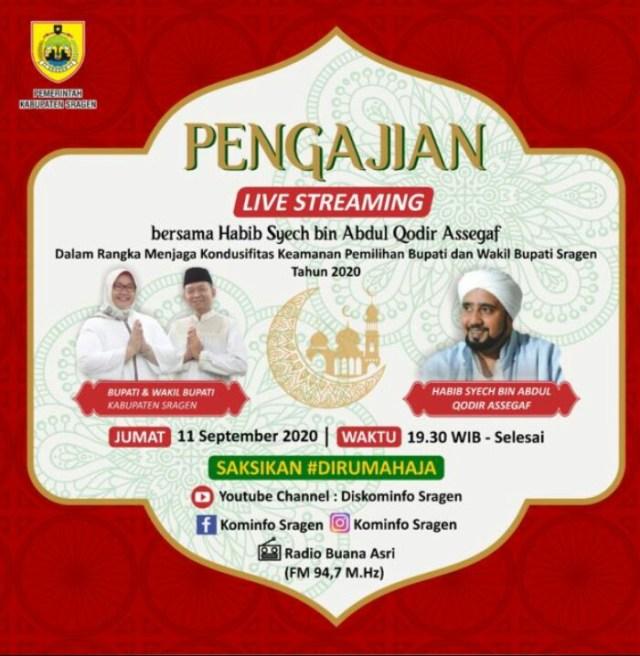 Viral Acara Pengajian Undang Habib Syech Di Sragen Besok
