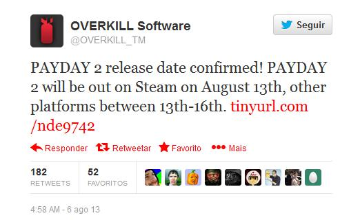 Payday 2 release date in Perth