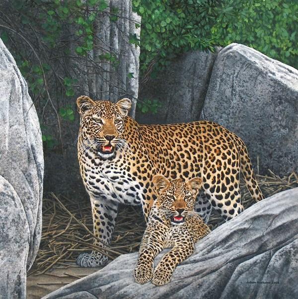 Leopard Johan Hoekstra Wildlife Art Collection