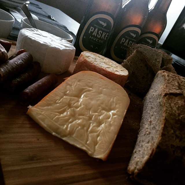 cheese board and homemade sourdough bread