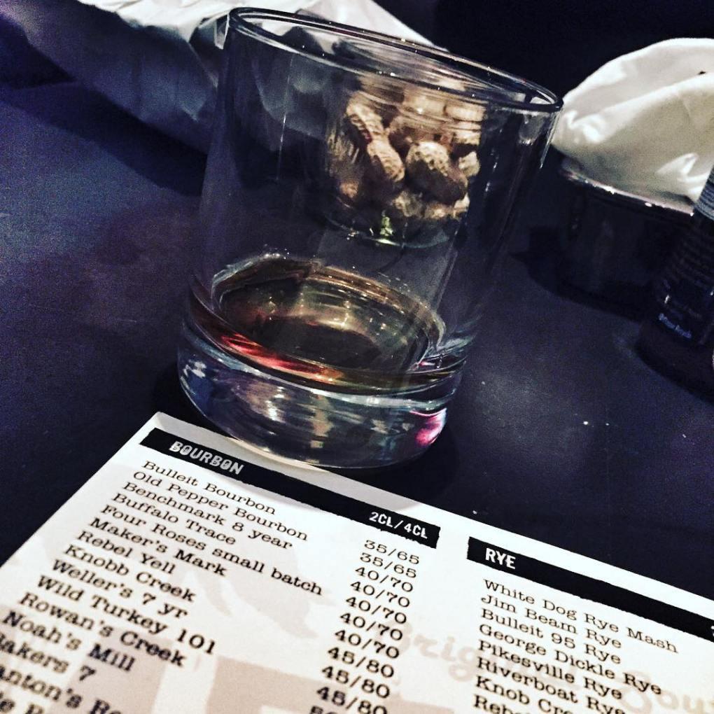 Bourbon selection - Memphis Roadhouse