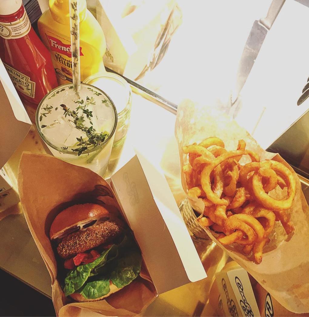 Burger menu from Cocks & Cows - Tivoli Food Hall
