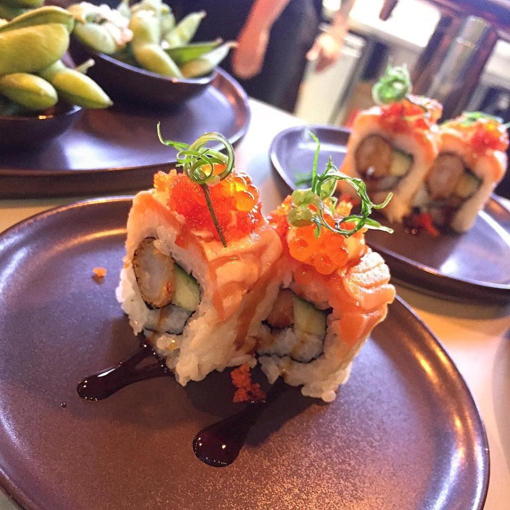 Signature rolls from Letz Sushi at Tivoli Food Hall