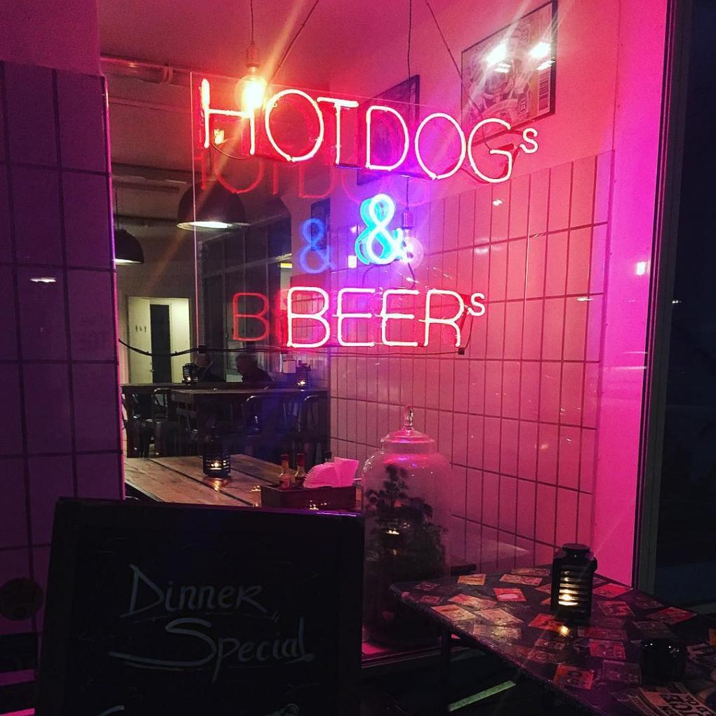 johns hotdog deli - the iconic neon sign