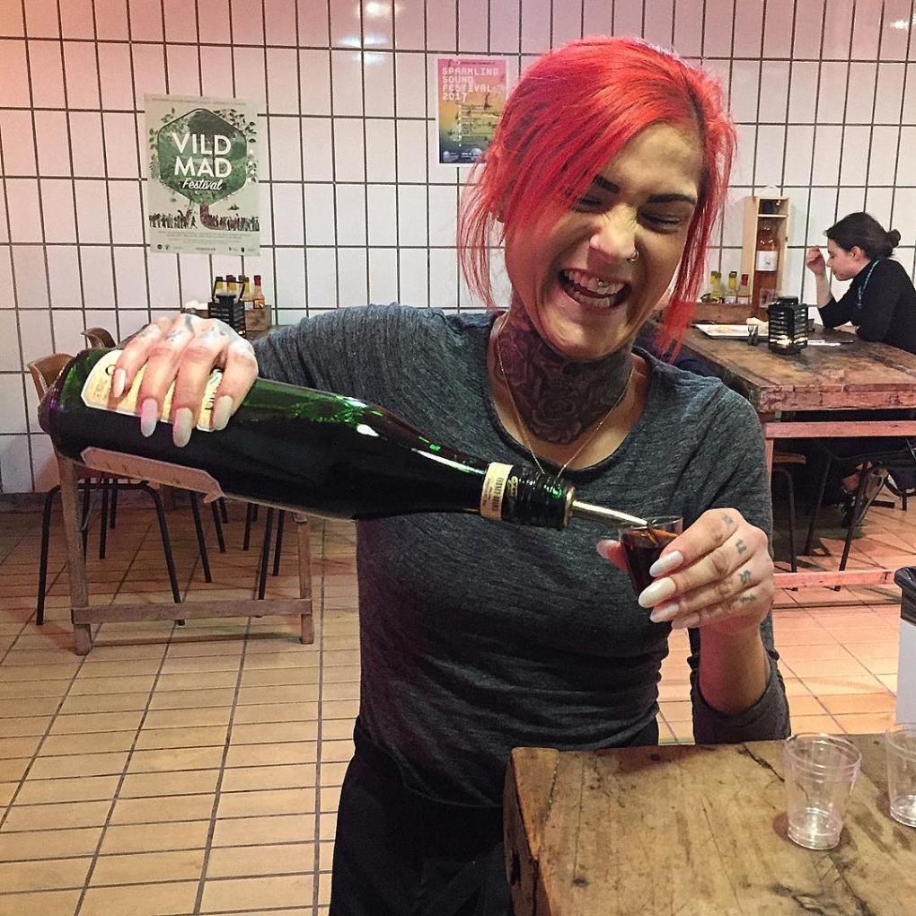 Fernet Branca shots at Johns Hotdog Deli