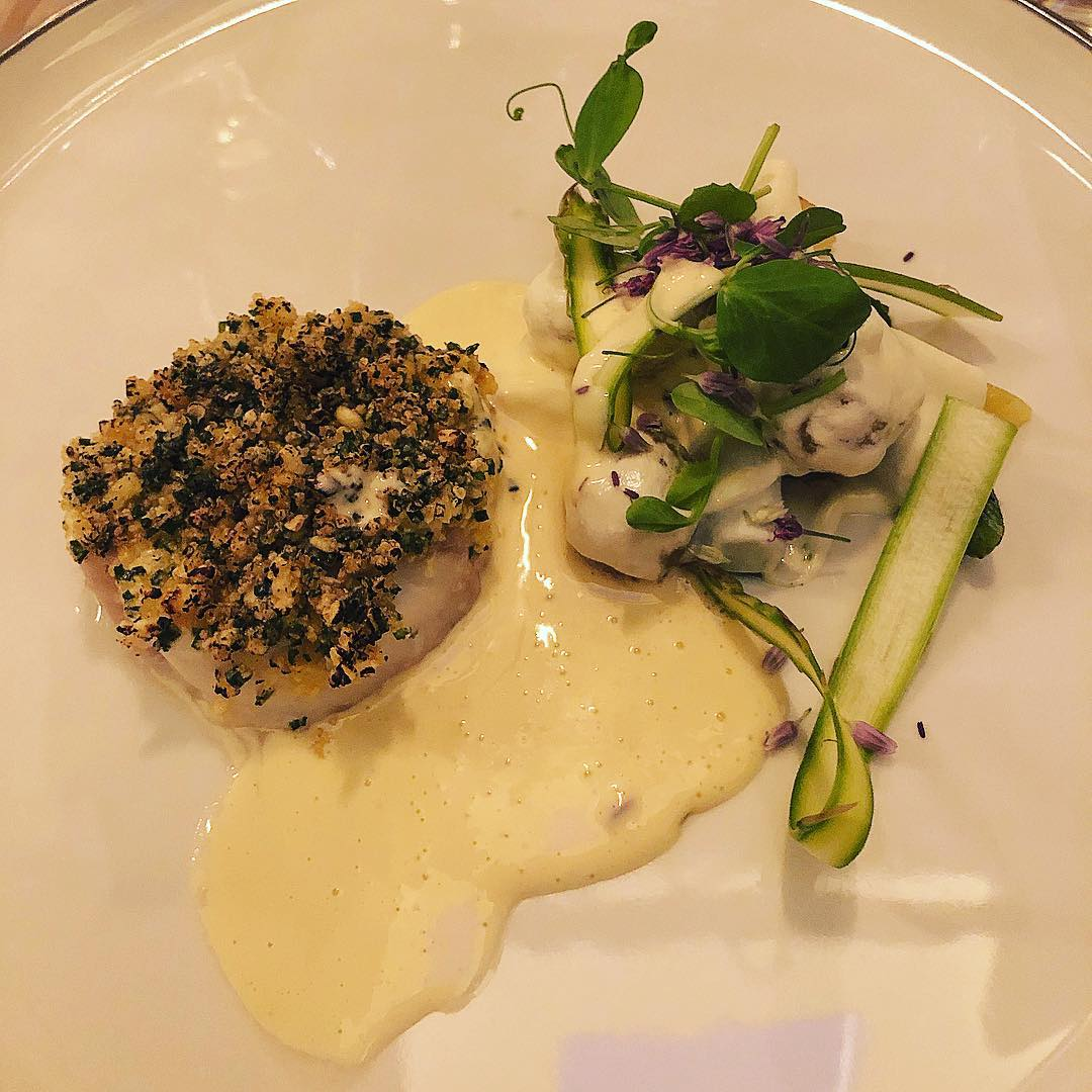 Torsk og rygeost på Restaurant Niels