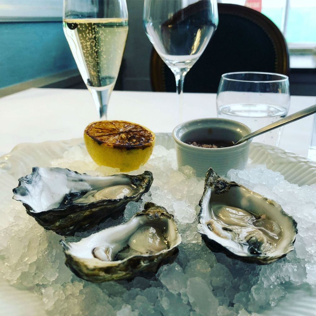 Oysters and Champagne at Krogs Fiskerestaurant