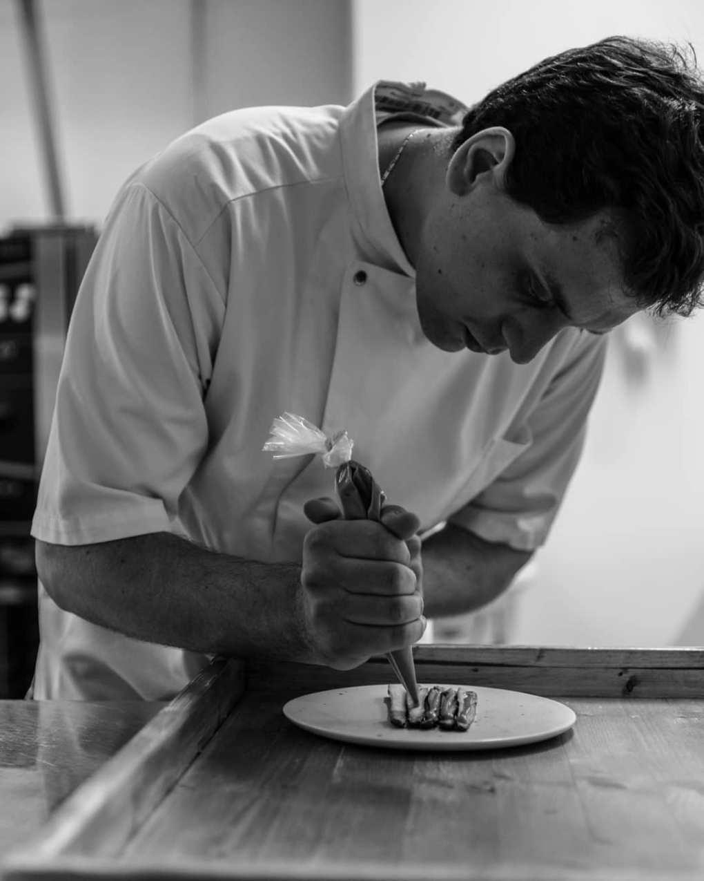 Chef Nicola Fanetti at Restaurant Brace