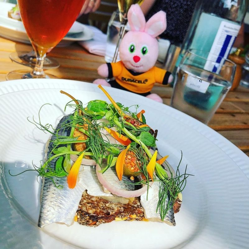 Smørrebrød with herring at Restaurant Frihavn