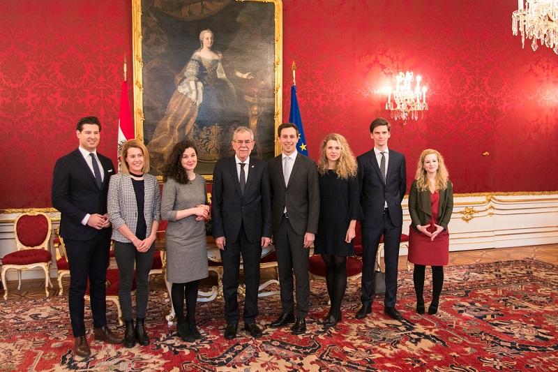 Zu Besuch beim Bundespräsident