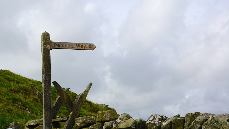 sign of the Pennine Way