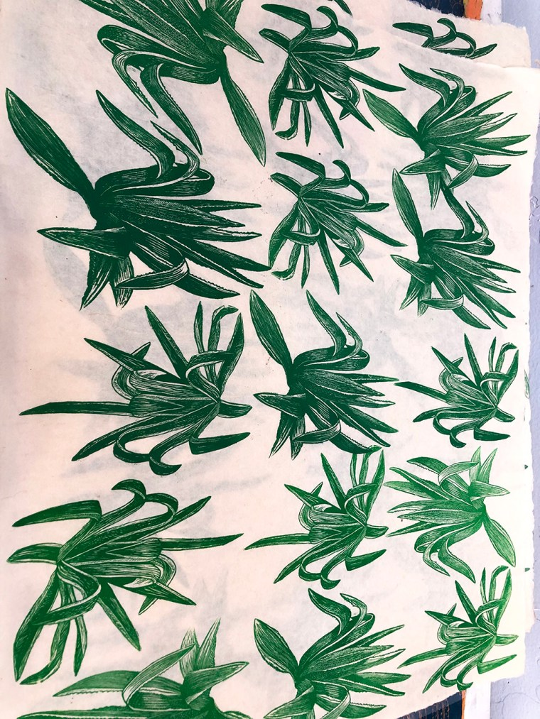Agave Process Printing by Johanna Mueller