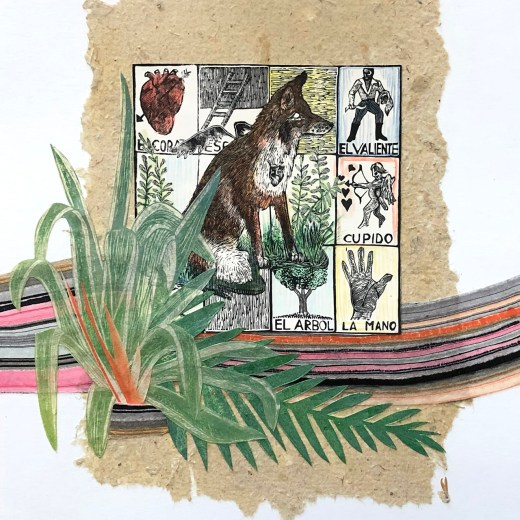 La Lotteria Mixed Media Collage by Johanna Mueller