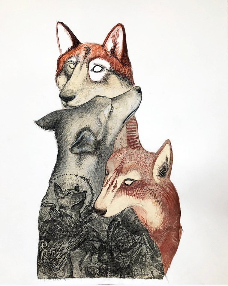 The Lookout Mixed Media Drawing by Johanna Mueller