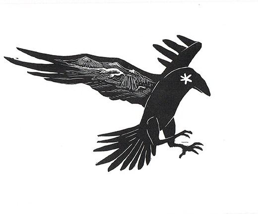 Raven Mountain Flight Print Edition by Johanna Mueller