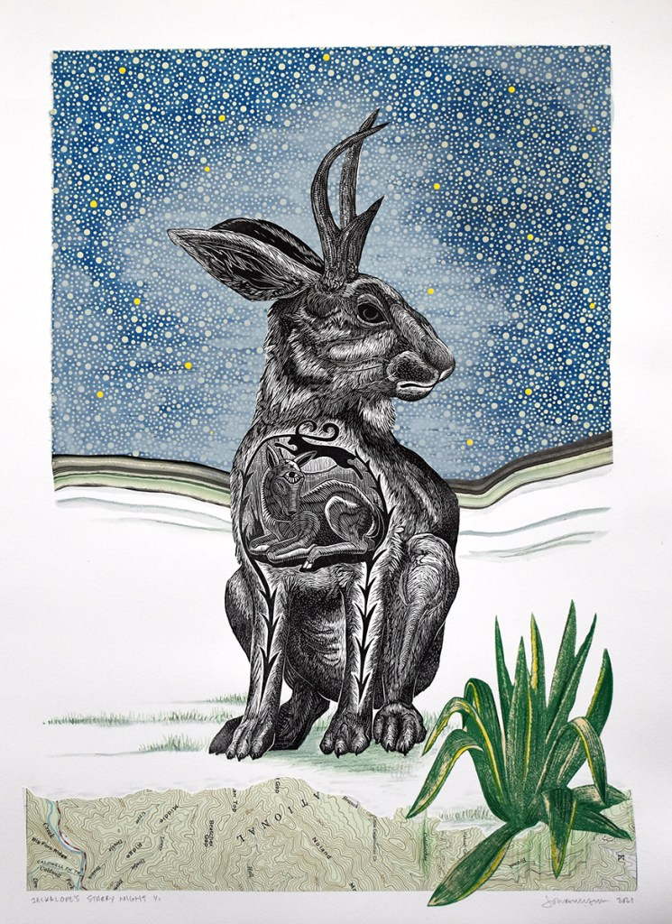 Jackalope's Starry Night