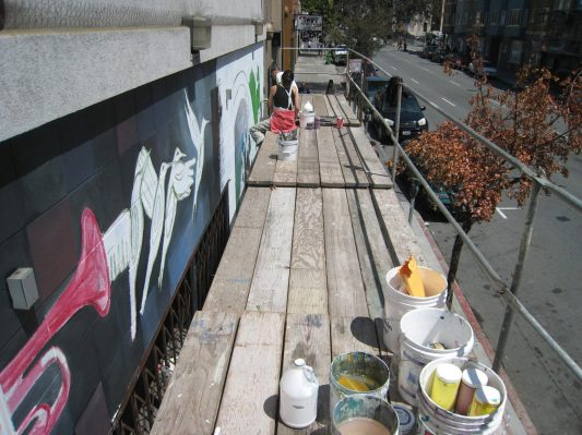 scaffolding garden