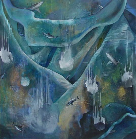 05_Shark Dream_56_x 54_acrylic on canvas