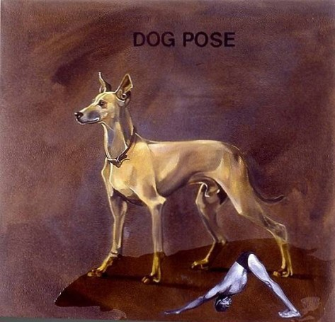 Yoga-Paintings-dog-pose