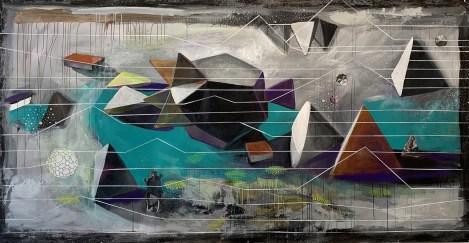 """Impossible Matter Landscape_ 60"""" x 118"""""""